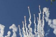 Fireworks during Patriotic Flag Retreat at Disneyland (DAPs Magic)