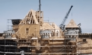 Construction of Sleeping Beauty Castle