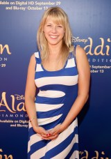 "BURBANK, CA - SEPTEMBER 27: Actress Jodie Sweetin attends a special LA screening celebrating Diamond Edition release of ""ALADDIN"" at The Walt Disney Studios on September 27, 2015 in Burbank, California. (Photo by Jesse Grant/Getty Images for Disney) *** Local Caption *** Jodie Sweetin"