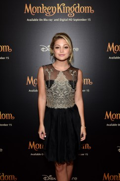 NEW YORK, NY - SEPTEMBER 02: Singer Olivia Holt attends Disneynature's Monkey Kingdom special screening celebrating the film's September15th Blu-ray / Digital HD release on September 2, 2015 in New York City. (Photo by Mike Coppola/Getty Images for Disneynature)
