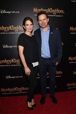 NEW YORK, NY - SEPTEMBER 02: Actress Tina Fey and director Mark Linfield attend Disneynature's Monkey Kingdom special screening celebrating the film's September15th Blu-ray / Digital HD release on September 2, 2015 in New York City. (Photo by Mike Coppola/Getty Images for Disneynature)