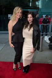 """Jesisca Capshaw and Sasha Spielberg arrive as DreamWorks Pictures and Fox2000 Pictures present the """"Bridge of Spies"""" world premiere at the New York Film Festival at Lincoln Center in New York on October 4, 2015 (Photo: Alex J. Berliner/ABImages)"""