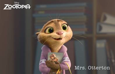 ZOOTOPIA – MRS. OTTERTON, a desperate otter who turns to Officer Judy Hopps for help in solving her husband's mysterious disappearance. ©2015 Disney. All Rights Reserved.