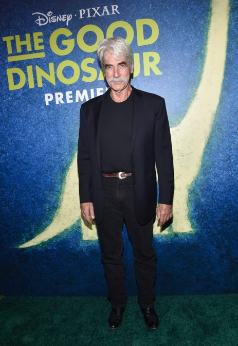 HOLLYWOOD, CA - NOVEMBER 17: Actor Sam Elliott attends the World Premiere Of Disney-Pixar's THE GOOD DINOSAUR at the El Capitan Theatre on November 17, 2015 in Hollywood, California. (Photo by Alberto E. Rodriguez/Getty Images for Disney) *** Local Caption *** Sam Elliott