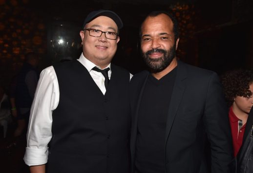 HOLLYWOOD, CA - NOVEMBER 17: Director Peter Sohn (L) and actor Jeffrey Wright attend the World Premiere Of Disney-Pixar's THE GOOD DINOSAUR at the El Capitan Theatre on November 17, 2015 in Hollywood, California. (Photo by Alberto E. Rodriguez/Getty Images for Disney) *** Local Caption *** Peter Sohn; Jeffrey Wright