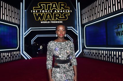 HOLLYWOOD, CA - DECEMBER 14: Actress Lupita Nyong'o attends the World Premiere of ?Star Wars: The Force Awakens? at the Dolby, El Capitan, and TCL Theatres on December 14, 2015 in Hollywood, California. (Photo by Alberto E. Rodriguez/Getty Images for Disney) *** Local Caption *** Lupita Nyong'o