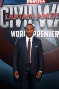 "HOLLYWOOD, CALIFORNIA - APRIL 12: Actor Anthony Mackie attends The World Premiere of Marvel's ""Captain America: Civil War"" at Dolby Theatre on April 12, 2016 in Los Angeles, California. (Photo by Jesse Grant/Getty Images for Disney) *** Local Caption *** Anthony Mackie"