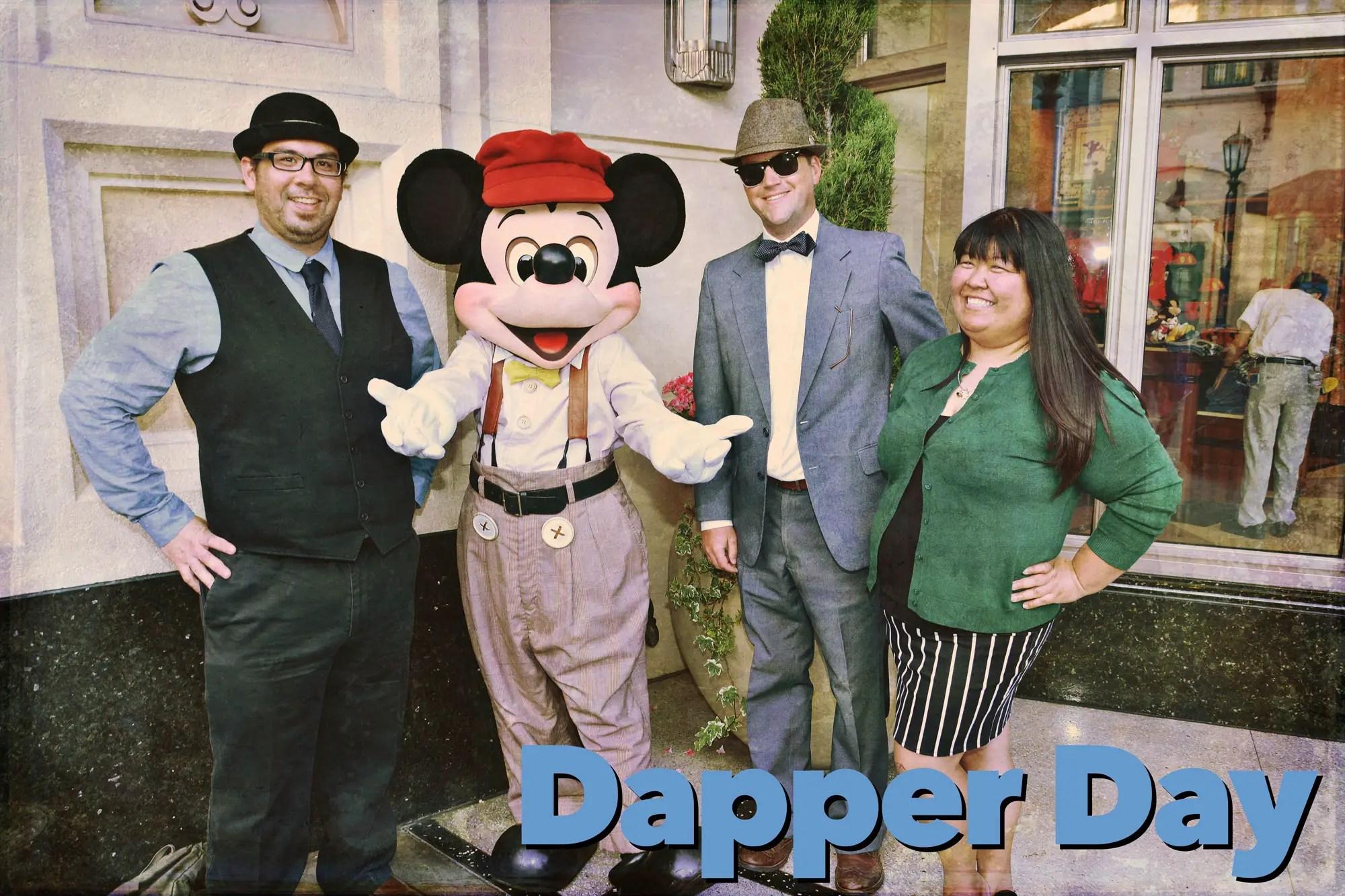 Dapper Day Descend on Disneyland
