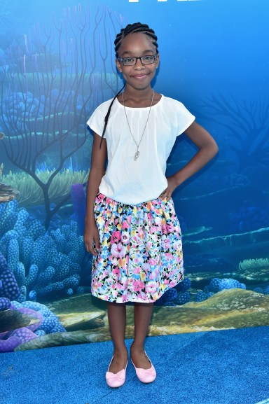 HOLLYWOOD, CA - JUNE 08: Actress Marsai Martin attends The World Premiere of Disney-Pixar's FINDING DORY on Wednesday, June 8, 2016 in Hollywood, California. (Photo by Alberto E. Rodriguez/Getty Images for Disney) *** Local Caption *** Marsai Martin