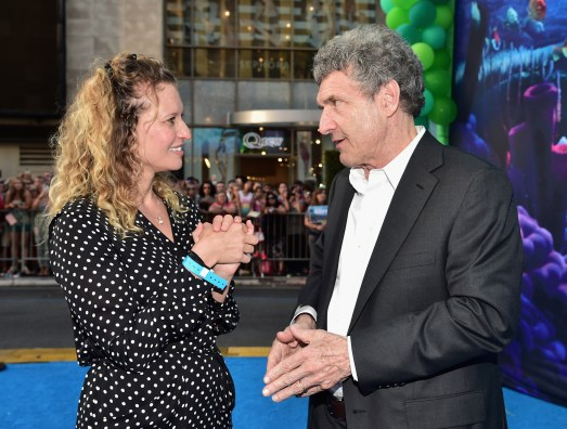 HOLLYWOOD, CA - JUNE 08: Screenwriter Victoria Strouse (L) and Chairman, The Walt Disney Studios, Alan Horn attend The World Premiere of Disney-Pixar's FINDING DORY on Wednesday, June 8, 2016 in Hollywood, California. (Photo by Alberto E. Rodriguez/Getty Images for Disney) *** Local Caption *** Victoria Strouse; Alan Horn