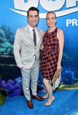 HOLLYWOOD, CA - JUNE 08: Actor Ty Burrell (L) and Holly Burrell attend The World Premiere of Disney-Pixar's FINDING DORY on Wednesday, June 8, 2016 in Hollywood, California. (Photo by Alberto E. Rodriguez/Getty Images for Disney) *** Local Caption *** Ty Burrell; Holly Burrell