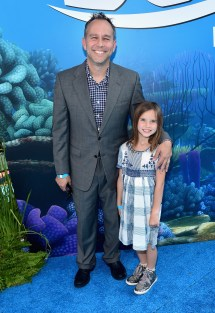HOLLYWOOD, CA - JUNE 08: Producer Jonas Rivera (L) and guest attend The World Premiere of Disney-Pixar's FINDING DORY on Wednesday, June 8, 2016 in Hollywood, California. (Photo by Alberto E. Rodriguez/Getty Images for Disney) *** Local Caption *** Jonas Rivera