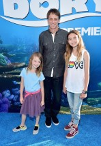 HOLLYWOOD, CA - JUNE 08: Professional skateboarder Tony Hawk (C) and guests attend The World Premiere of Disney-Pixar's FINDING DORY on Wednesday, June 8, 2016 in Hollywood, California. (Photo by Alberto E. Rodriguez/Getty Images for Disney) *** Local Caption *** Tony Hawk