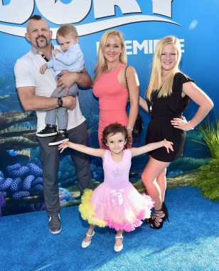 HOLLYWOOD, CA - JUNE 08: Mixed martial artist Chuck Liddell (L) and family attend The World Premiere of Disney-Pixar's FINDING DORY on Wednesday, June 8, 2016 in Hollywood, California. (Photo by Alberto E. Rodriguez/Getty Images for Disney) *** Local Caption *** Chuck Liddell