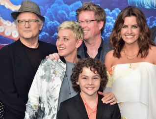 HOLLYWOOD, CA - JUNE 08: (L-R top) Actors Albert Brooks, Ellen DeGeneres, Director/screenwriter Andrew Stanton, actor Hayden Rolence and producer Lindsey Collins attend The World Premiere of Disney-Pixar's FINDING DORY on Wednesday, June 8, 2016 in Hollywood, California. (Photo by Alberto E. Rodriguez/Getty Images for Disney) *** Local Caption *** Albert Brooks; Ellen DeGeneres; Lindsey Collins; Andrew Stanton; Hayden Rolence