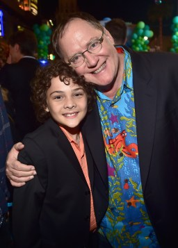 HOLLYWOOD, CA - JUNE 08: Actor Hayden Rolence (L) and Executive producer John Lasseter attend The World Premiere of Disney-Pixar's FINDING DORY on Wednesday, June 8, 2016 in Hollywood, California. (Photo by Alberto E. Rodriguez/Getty Images for Disney) *** Local Caption *** Hayden Rolence; John Lasseter