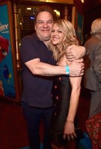 HOLLYWOOD, CA - JUNE 08: Actors Jeff Garlin (L)and Kaitlin Olson attend The World Premiere of Disney-Pixar's FINDING DORY on Wednesday, June 8, 2016 in Hollywood, California. (Photo by Alberto E. Rodriguez/Getty Images for Disney) *** Local Caption *** Jeff Garlin; Kaitlin Olson