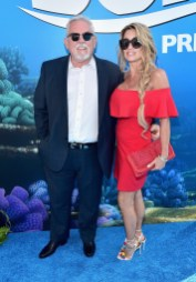 HOLLYWOOD, CA - JUNE 08: Actor John Ratzenberger (L) and Julie Blichfeldt attend The World Premiere of Disney-Pixar's FINDING DORY on Wednesday, June 8, 2016 in Hollywood, California. (Photo by Alberto E. Rodriguez/Getty Images for Disney) *** Local Caption *** John Ratzenberger; Julie Blichfeldt