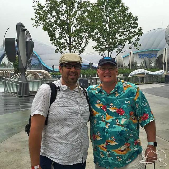 Shanghai Disneyland Opening Day - Murray & John Lasseter