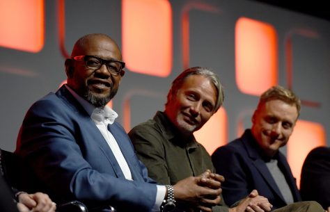 LONDON, ENGLAND - JULY 15: (L-R) Forest Whitaker, Mads Mikkelsen and Alan Tudyk on stage during the Rogue One Panel at the Star Wars Celebration 2016 at ExCel on July 15, 2016 in London, England. (Photo by Ben A. Pruchnie/Getty Images for Walt Disney Studios) *** Local Caption *** Forest Whitaker; Mads Mikkelsen; Alan Tudyk