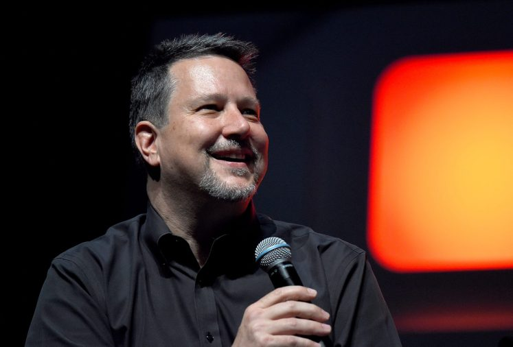 LONDON, ENGLAND - JULY 15: John Knoll on stage during the Rogue One Panel at the Star Wars Celebration 2016 at ExCel on July 15, 2016 in London, England. (Photo by Ben A. Pruchnie/Getty Images for Walt Disney Studios) *** Local Caption *** John Knoll