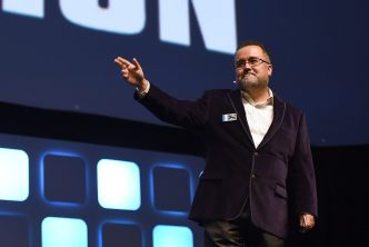 LONDON, ENGLAND - JULY 17: Pablo Hidalgo on stage during Future Directors panel at the Star Wars Celebration 2016 at ExCel on July 17, 2016 in London, England. (Photo by Ben A. Pruchnie/Getty Images for Walt Disney Studios) *** Local Caption *** Pablo Hidalgo