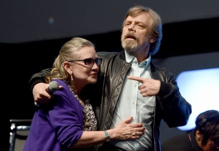 LONDON, ENGLAND - JULY 17: Mark Hamill and Carrie Fisher on stage during Future Directors Panel at the Star Wars Celebration 2016 at ExCel on July 17, 2016 in London, England. (Photo by Ben A. Pruchnie/Getty Images for Walt Disney Studios) *** Local Caption *** Mark Hamill; Carrie Fisher