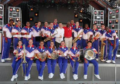 Rex Richardson & the Disneyland Resort 2016 All-American College Band (PC: Richard Takenaga)