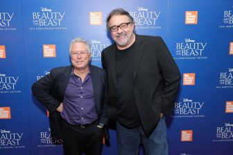 """NEW YORK, NY - SEPTEMBER 18: Alan Menken and Don Hahn attend the special screening of Disney's """"Beauty and the Beast"""" to celebrate the 25th Anniversary Edition release on Blu-Ray and DVD on September 18, 2016 in New York City. (Photo by Neilson Barnard/Getty Images for Walt Disney Studios Home Entertainment) *** Local Caption *** Alan Menken; Don Hahn"""