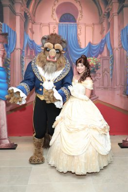 "NEW YORK, NY - SEPTEMBER 18: Beast and Belle attend the special screening of Disney's ""Beauty and the Beast"" to celebrate the 25th Anniversary Edition release on Blu-Ray and DVD on September 18, 2016 in New York City. (Photo by Neilson Barnard/Getty Images for Walt Disney Studios Home Entertainment)"