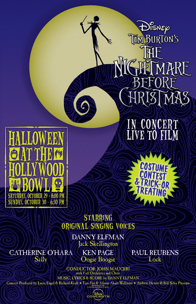 Tim Burton's The Nightmare Before Christmas to be performed live at the Hollywood Bowl
