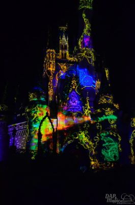 Walt Disney World Magic Kingdom projection show celebrate the magic once upon a time