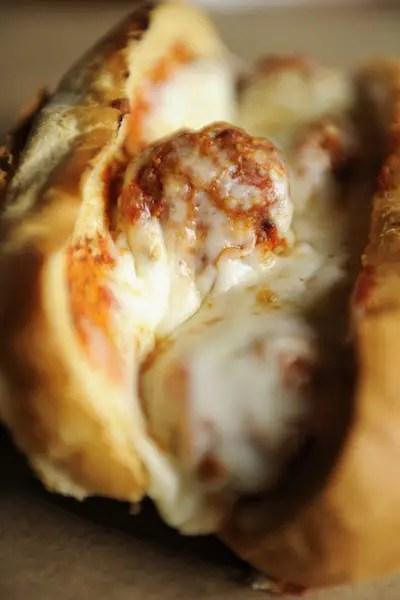 PizzeRizzo's Meatball Sandwich