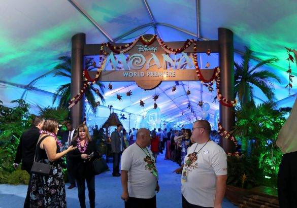 """HOLLYWOOD, CA - NOVEMBER 14: A view of the atmosphere at The World Premiere of Disney's """"MOANA"""" at the El Capitan Theatre on Monday, November 14, 2016 in Hollywood, CA. (Photo by Jesse Grant/Getty Images for Disney)"""