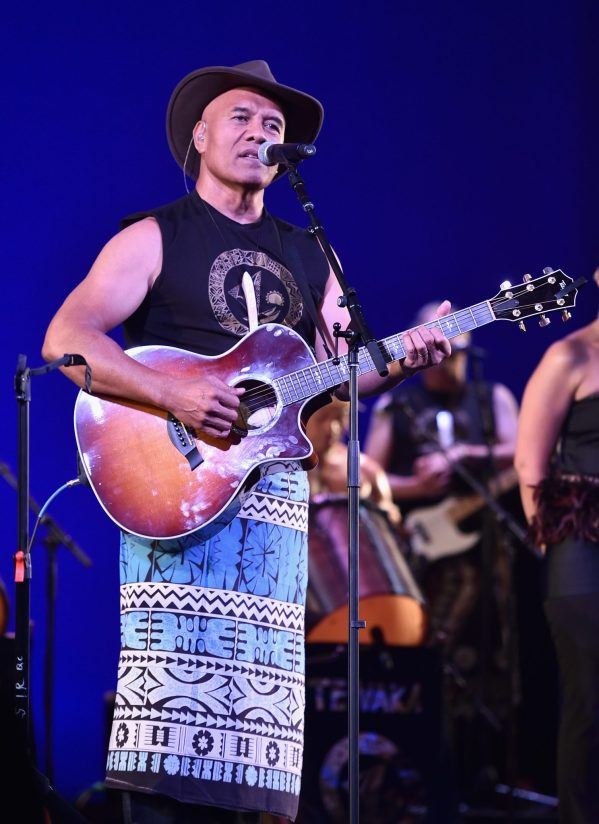 """HOLLYWOOD, CA - NOVEMBER 14: Musician Opetaia Foa'i performs onstage at The World Premiere of Disney's """"MOANA"""" at the El Capitan Theatre on Monday, November 14, 2016 in Hollywood, CA. (Photo by Alberto E. Rodriguez/Getty Images for Disney) *** Local Caption *** Opetaia Foa'i"""