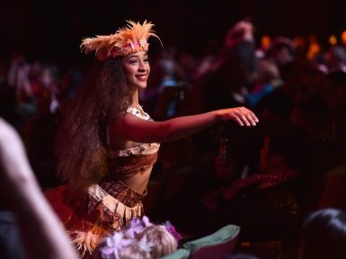 """HOLLYWOOD, CA - NOVEMBER 14: Dancer performs at The World Premiere of Disney's """"MOANA"""" at the El Capitan Theatre on Monday, November 14, 2016 in Hollywood, CA. (Photo by Alberto E. Rodriguez/Getty Images for Disney)"""