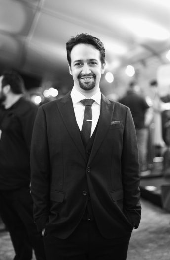 "HOLLYWOOD, CA - NOVEMBER 14: (EDITORS NOTE: Image has been shot in black and white. Color version not available.) Songwriter Lin-Manuel Miranda attends The World Premiere of Disney's ""MOANA"" at the El Capitan Theatre on Monday, November 14, 2016 in Hollywood, CA. (Photo by Charley Gallay/Getty Images for Disney) *** Local Caption *** Lin-Manuel Miranda"