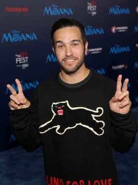 "HOLLYWOOD, CA - NOVEMBER 14: Musician Pete Wentz attends The World Premiere of Disney's ""MOANA"" at the El Capitan Theatre on Monday, November 14, 2016 in Hollywood, CA. (Photo by Jesse Grant/Getty Images for Disney) *** Local Caption *** Pete Wentz"