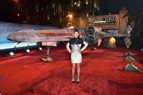 """HOLLYWOOD, CA - DECEMBER 10: Actress Storm Reid attends The World Premiere of Lucasfilm's highly anticipated, first-ever, standalone Star Wars adventure, """"Rogue One: A Star Wars Story"""" at the Pantages Theatre on December 10, 2016 in Hollywood, California. (Photo by Marc Flores/Getty Images for Disney) *** Local Caption *** Storm Reid"""