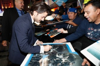 """HOLLYWOOD, CA - DECEMBER 10: Actor Diego Luna attends The World Premiere of Lucasfilm's highly anticipated, first-ever, standalone Star Wars adventure, """"Rogue One: A Star Wars Story"""" at the Pantages Theatre on December 10, 2016 in Hollywood, California. (Photo by Rich Polk/Getty Images for Disney) *** Local Caption *** Diego Luna"""