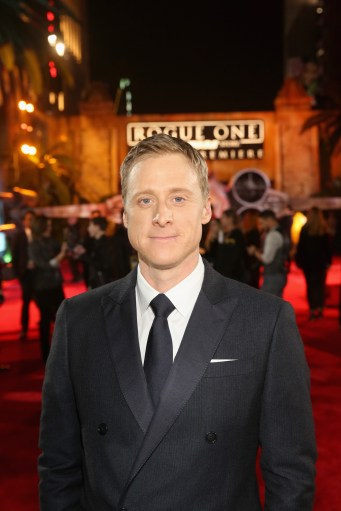 "HOLLYWOOD, CA - DECEMBER 10: Actor Alan Tudyk attends The World Premiere of Lucasfilm's highly anticipated, first-ever, standalone Star Wars adventure, ""Rogue One: A Star Wars Story"" at the Pantages Theatre on December 10, 2016 in Hollywood, California. (Photo by Jesse Grant/Getty Images for Disney) *** Local Caption *** Alan Tudyk"