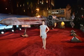 """HOLLYWOOD, CA - DECEMBER 10: Internet personality Rosanna Pansino attends The World Premiere of Lucasfilm's highly anticipated, first-ever, standalone Star Wars adventure, """"Rogue One: A Star Wars Story"""" at the Pantages Theatre on December 10, 2016 in Hollywood, California. (Photo by Marc Flores/Getty Images for Disney) *** Local Caption *** Rosanna Pansino"""