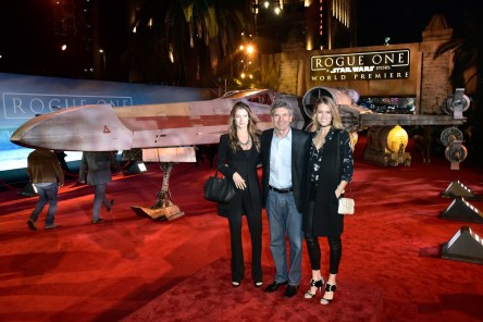 ".HOLLYWOOD, CA - DECEMBER 10: (L-R) Cassidy Horn, Chairman, The Walt Disney Studios, Alan Horn and actress Cody Horn attend The World Premiere of Lucasfilm's highly anticipated, first-ever, standalone Star Wars adventure, ""Rogue One: A Star Wars Story"" at the Pantages Theatre on December 10, 2016 in Hollywood, California. (Photo by Marc Flores/Getty Images for Disney) *** Local Caption *** Alan Horn; Cody Horn; Cassidy Horn"