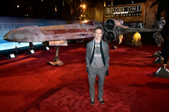 "HOLLYWOOD, CA - DECEMBER 10: Actor Breckin Meyer attends The World Premiere of Lucasfilm's highly anticipated, first-ever, standalone Star Wars adventure, ""Rogue One: A Star Wars Story"" at the Pantages Theatre on December 10, 2016 in Hollywood, California. (Photo by Marc Flores/Getty Images for Disney) *** Local Caption *** Breckin Meyer"