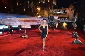 """HOLLYWOOD, CA - DECEMBER 10: Actress Carly Hughes attends The World Premiere of Lucasfilm's highly anticipated, first-ever, standalone Star Wars adventure, """"Rogue One: A Star Wars Story"""" at the Pantages Theatre on December 10, 2016 in Hollywood, California. (Photo by Marc Flores/Getty Images for Disney) *** Local Caption *** Carly Hughes"""