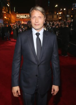 """HOLLYWOOD, CA - DECEMBER 10: Actor Mads Mikkelsen attends The World Premiere of Lucasfilm's highly anticipated, first-ever, standalone Star Wars adventure, """"Rogue One: A Star Wars Story"""" at the Pantages Theatre on December 10, 2016 in Hollywood, California. (Photo by Jesse Grant/Getty Images for Disney) *** Local Caption *** Mads Mikkelsen"""