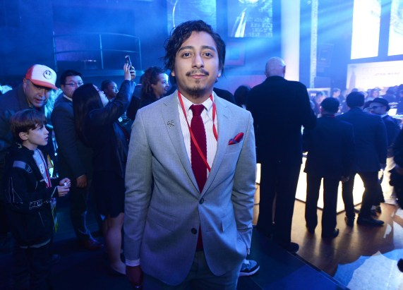 """HOLLYWOOD, CA - DECEMBER 10: Actor Tony Revolori attends The World Premiere of Lucasfilm's highly anticipated, first-ever, standalone Star Wars adventure, """"Rogue One: A Star Wars Story"""" at the Pantages Theatre on December 10, 2016 in Hollywood, California. (Photo by Charley Gallay/Getty Images for Disney) *** Local Caption *** Tony Revolori"""