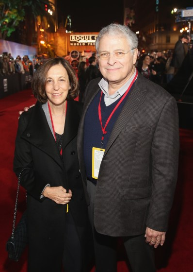 """HOLLYWOOD, CA - DECEMBER 10: Screenwriter Lawrence Kasdan (R) and Meg Kasdan attend The World Premiere of Lucasfilm's highly anticipated, first-ever, standalone Star Wars adventure, """"Rogue One: A Star Wars Story"""" at the Pantages Theatre on December 10, 2016 in Hollywood, California. (Photo by Jesse Grant/Getty Images for Disney) *** Local Caption *** Meg Kasdan; Lawrence Kasdan"""