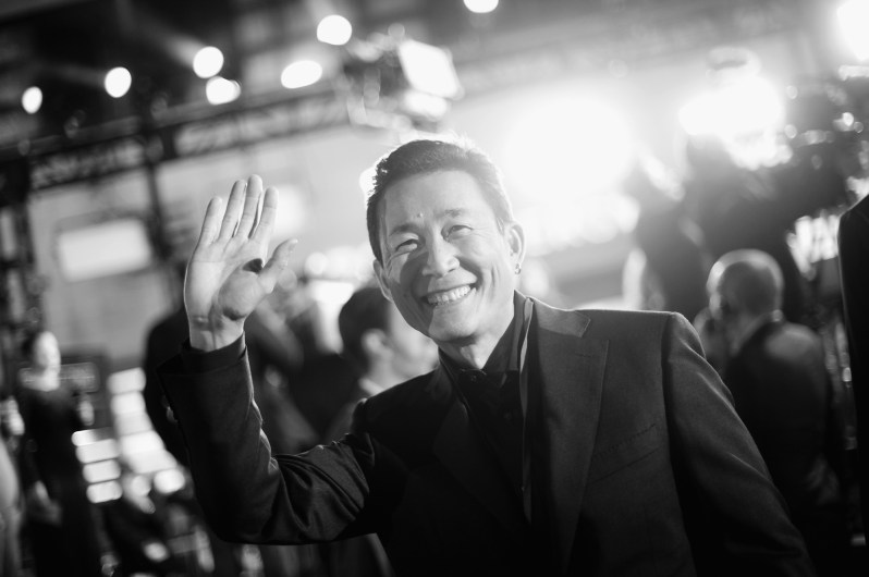 """HOLLYWOOD, CA - DECEMBER 10: (EDITORS NOTE: Image has been shot in black and white. Color version not available.) Conceptual artist Doug Chiang attends The World Premiere of Lucasfilm's highly anticipated, first-ever, standalone Star Wars adventure, """"Rogue One: A Star Wars Story"""" at the Pantages Theatre on December 10, 2016 in Hollywood, California. (Photo by Charley Gallay/Getty Images for Disney) *** Local Caption *** Doug Chiang"""
