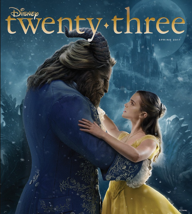 2017 D23 Magazine Cover - Beauty and the Beast